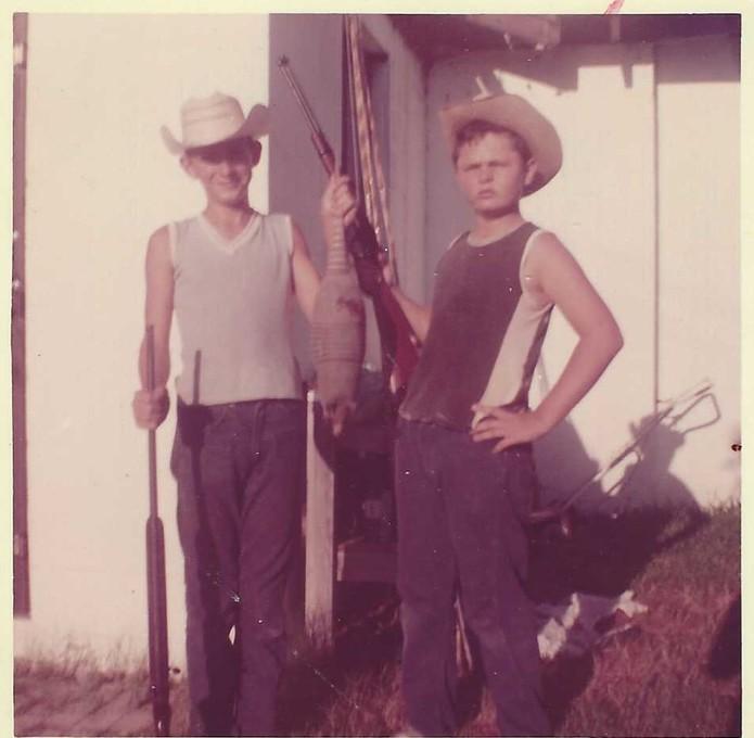 Two big game hunters