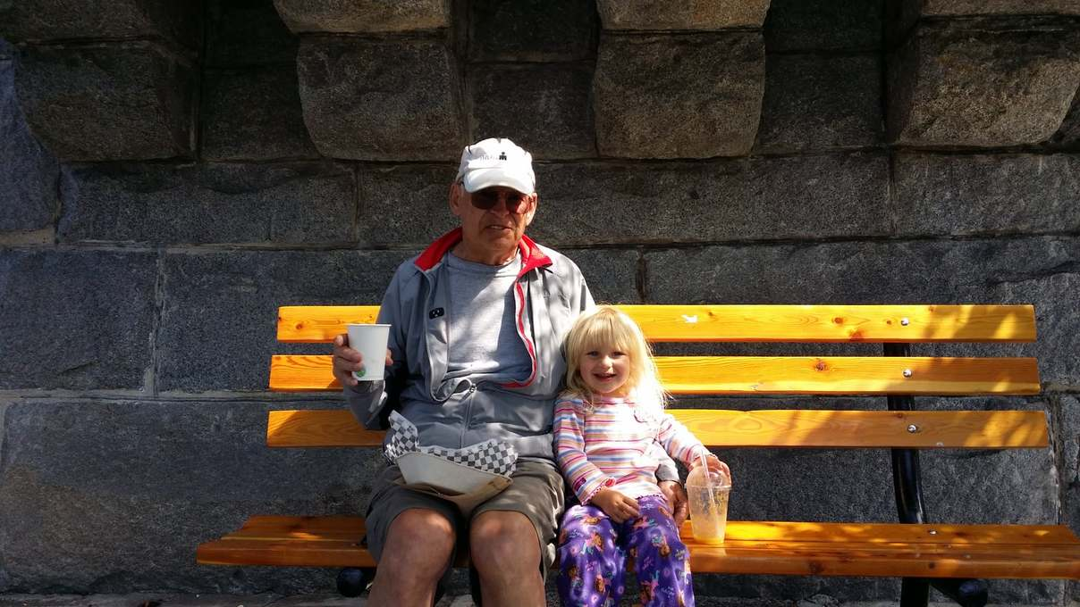 With granddaughter