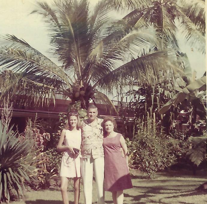 Sue Ellen, Fred, and Josephine in American Samoa