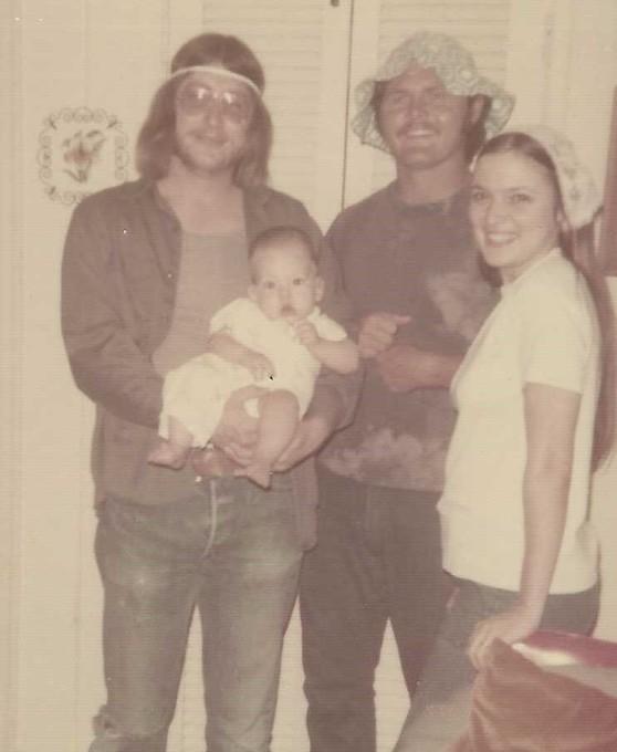 Bobby, Charlie, Becky and Baby Doug.