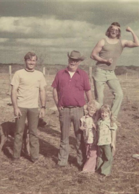Bobby, Larry, Uncle Roy and little Shana and Shay