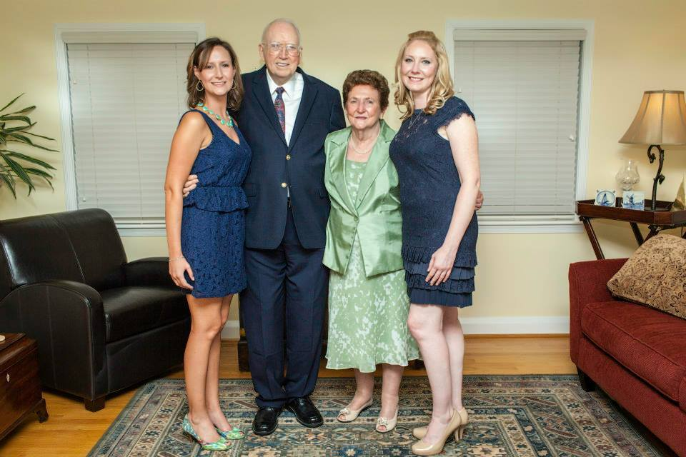 With Granddaughters in 2013